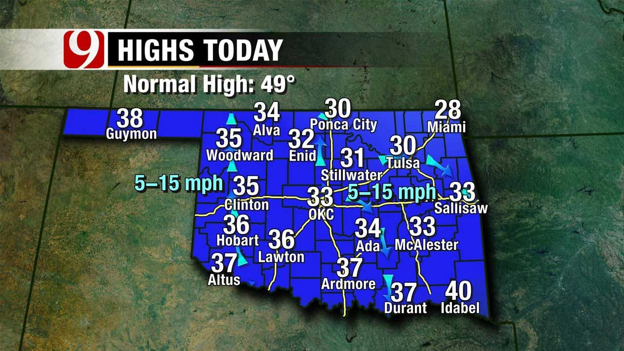 Chilly Start This Week Across Oklahoma