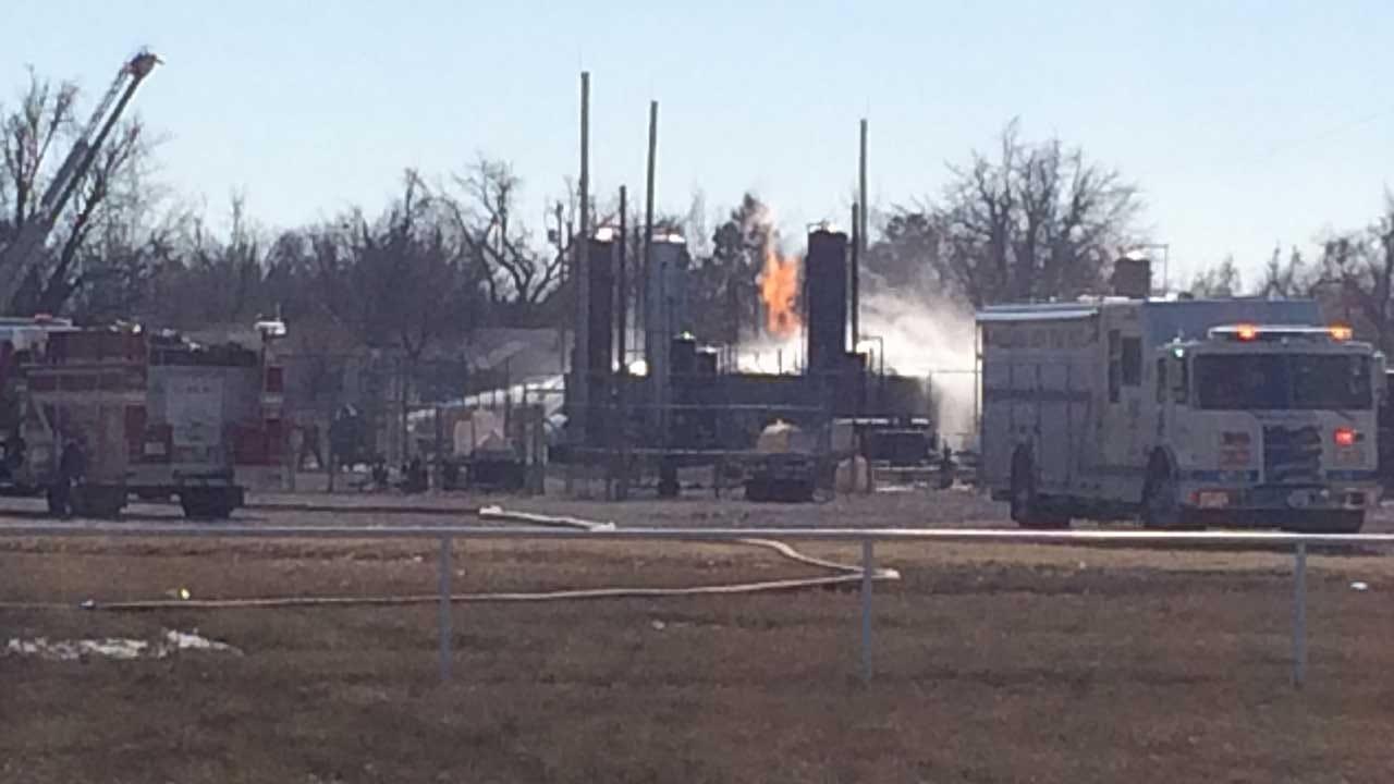 OKC, Bethany Fire Crews Responding to Tank Battery Fire