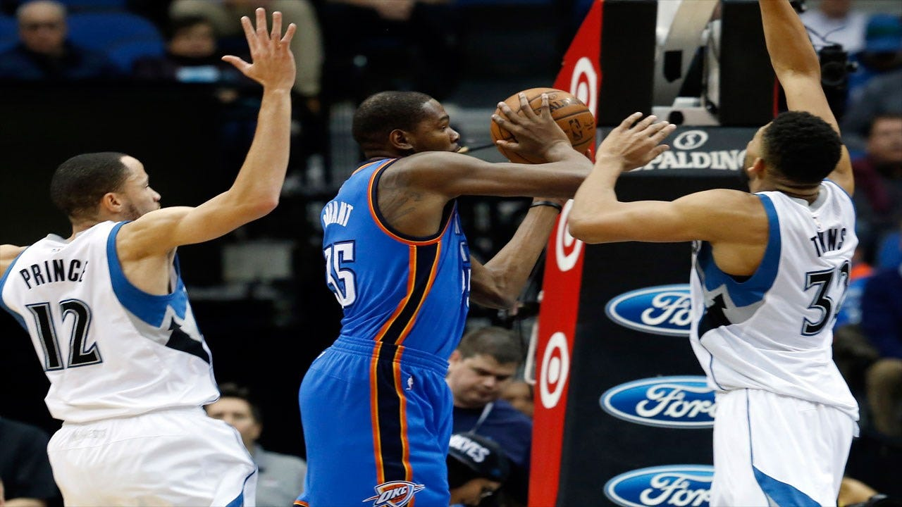 Durant's Clutch Fourth Quarter Leads Thunder To Win Over Wolves