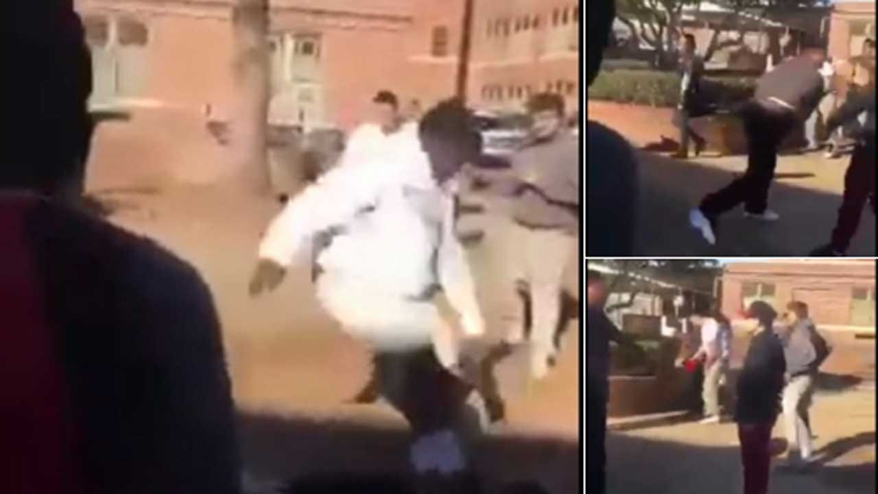 OKC Police Investigate Violent Fight Caught On Camera At High School