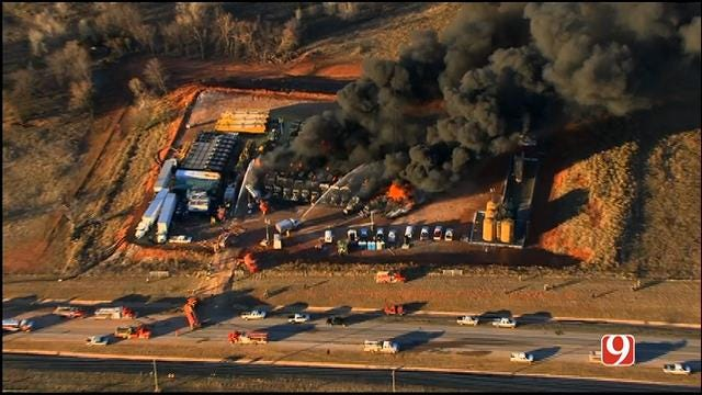 Crews Discover New Problems After Battling Grady County Fracking Operation Fire