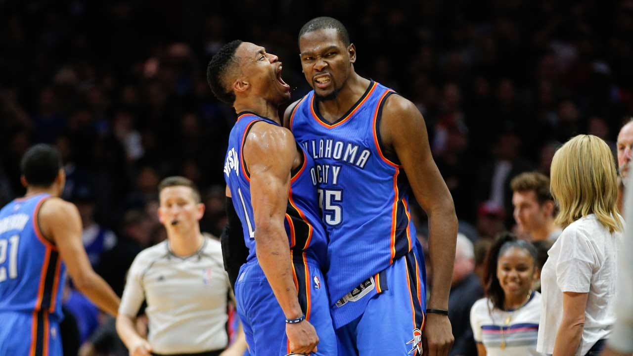 Durant, Westbrook Named Western Conference All-Star Starters