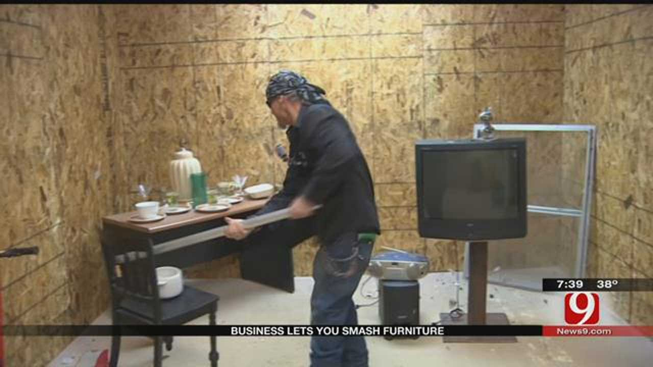 Texas Business Lets You Smash Furniture