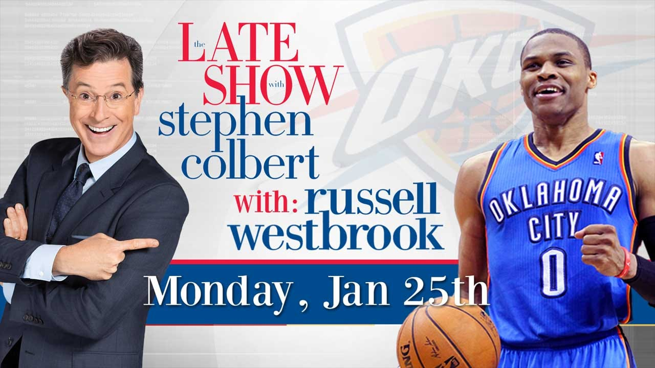 Westbrook To Appear On The Late Show With Stephen Colbert Tonight