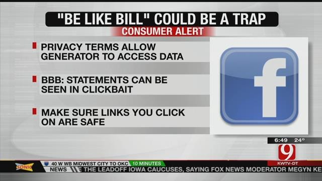 BBB Warns Against 'Be Like Bill' Meme On Facebook