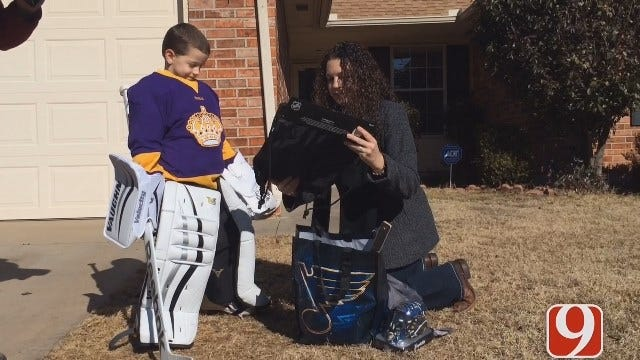 NHL Team Sends Care Package To OK Boy Whose Hockey Gear Was Stolen
