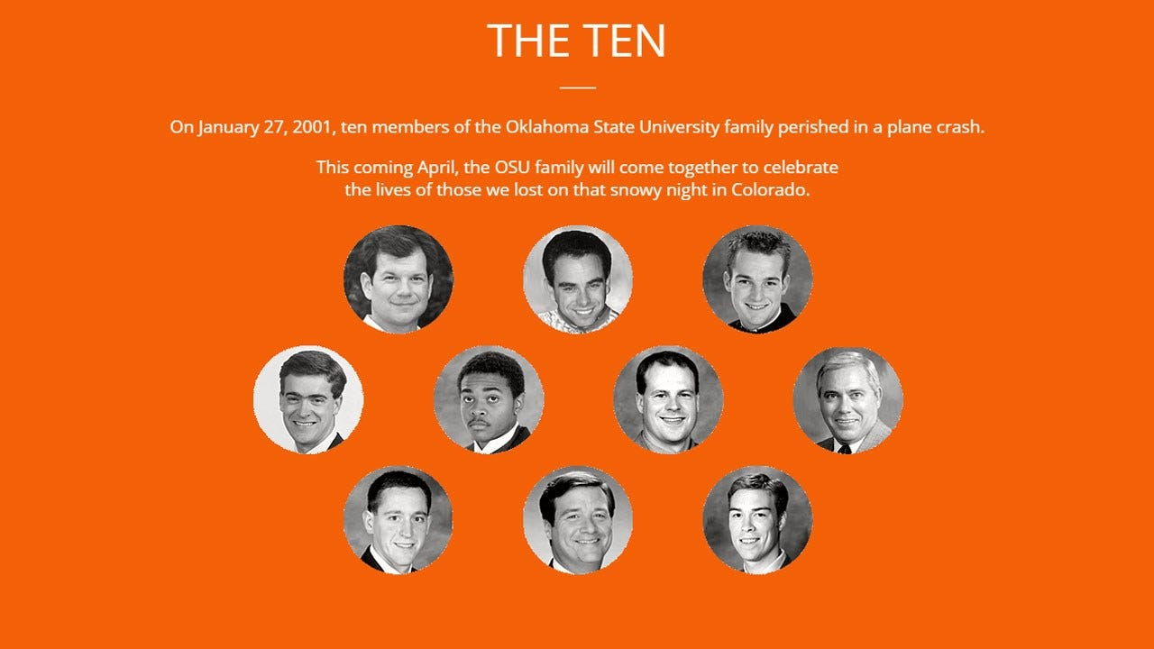 Remember The Ten: OSU Community Remembers Those Lost In 2001 Plane Crash