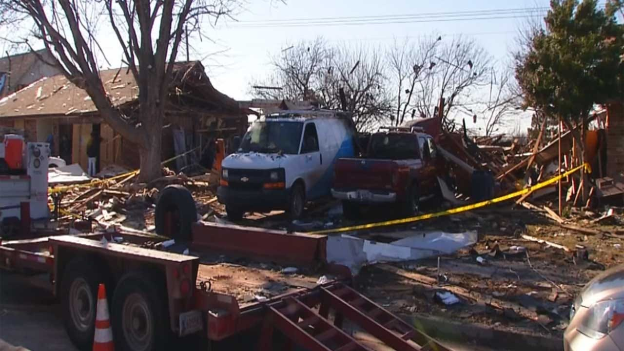 Cleanup Underway After NW OKC Home Explosion