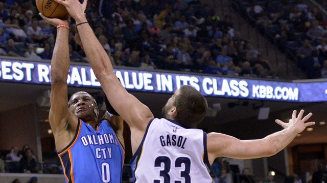 Thunder Hosting Grizzlies, Durant A Game-Time Decision