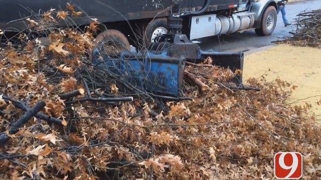 Crews Busy Working To Cleanup Ice Storm Debris In OKC