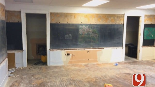 New Historic Chalkboards Discovered At Emerson Mid-High In OKC