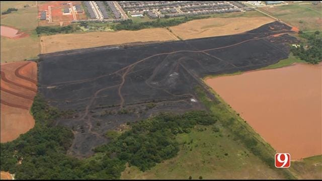 Crews Put Out Grass Fire At Morgan And Memorial Rd. In OKC