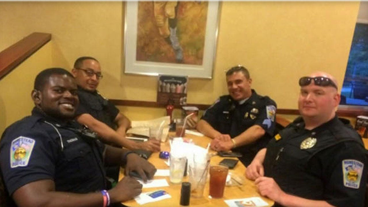 Police Officers Pick Up Couple's Tab After They Refused To Sit Near Cops