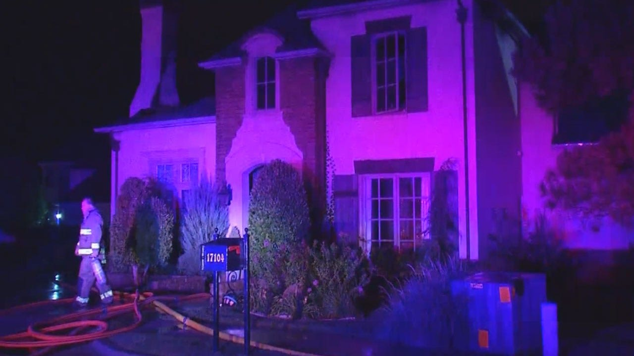 Fire Damages Large Home in Edmond