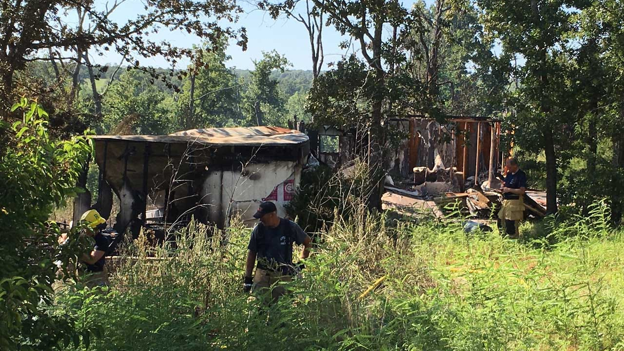 Fire Destroys Abandoned Home Near Little Axe