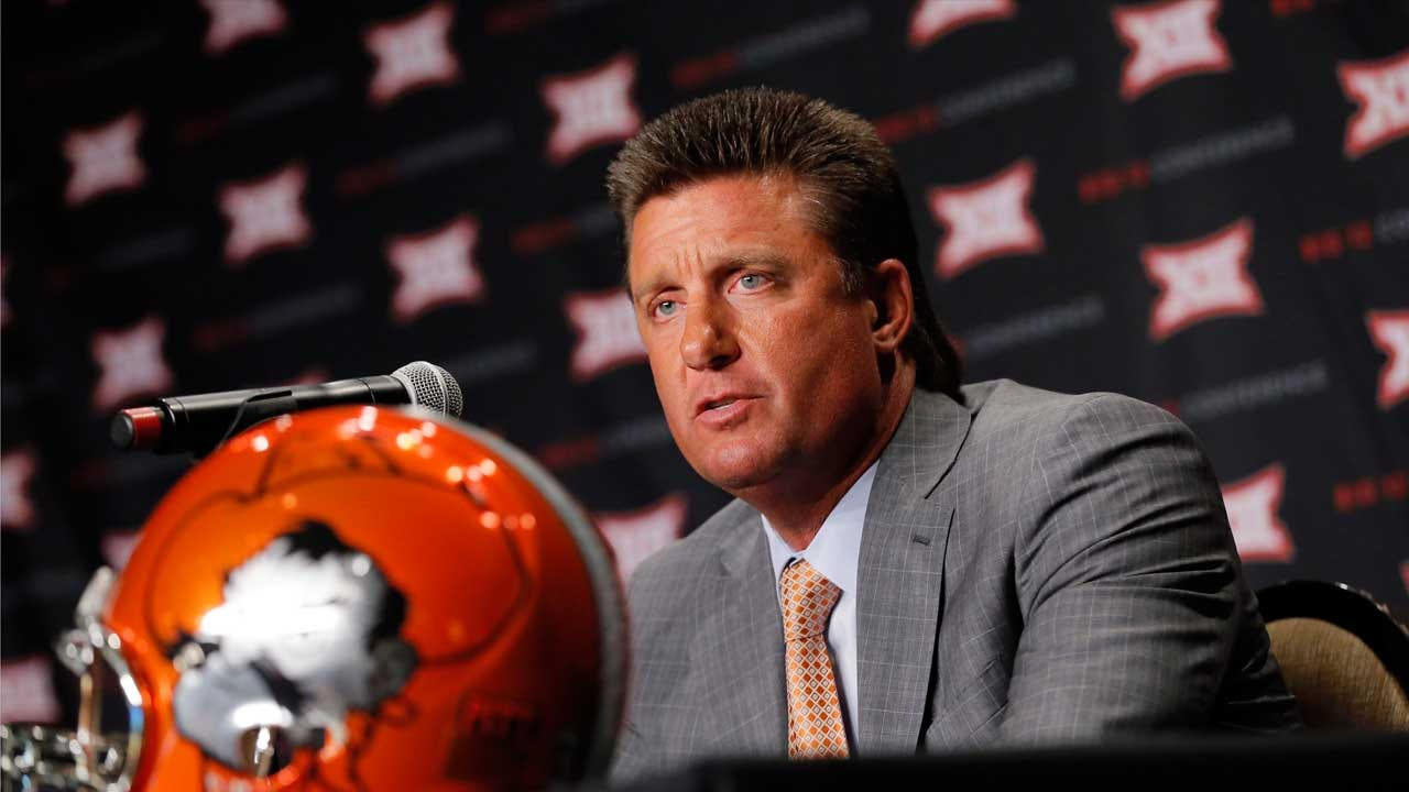 Gundy Talks Sanders, Running Game And O-Line Improvement At Big 12 Media Days
