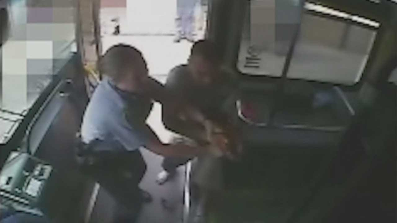 Surveillance Video Shows Suspect Struggle With Officer For Gun
