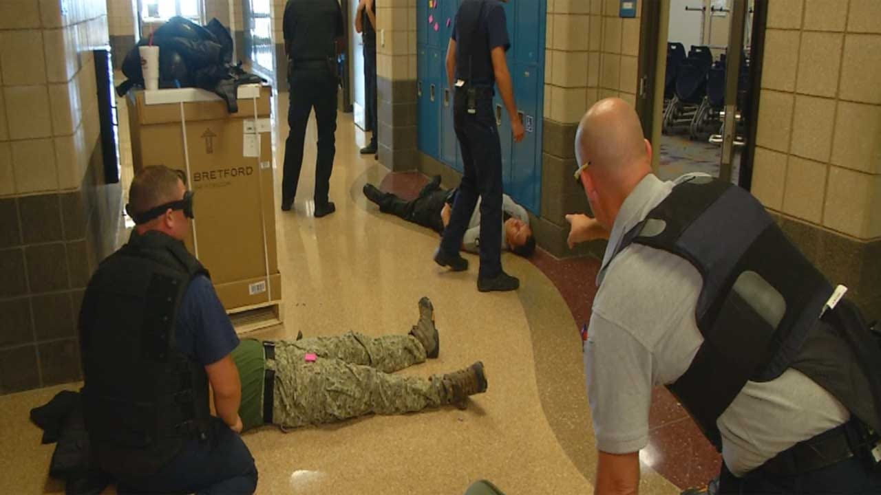 Deer Creek Firefighters, OCSO Train For Active Shooter Situations
