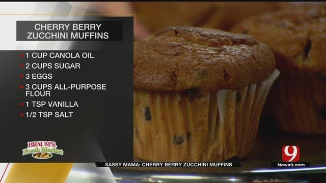 Cherry Berry Zucchini Muffins