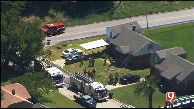 Crews Contain House Fire In Northeast OKC