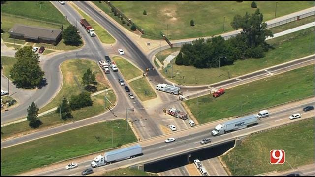 Fluid Spill Near Dell Campus Causing Traffic Issues In SW OKC