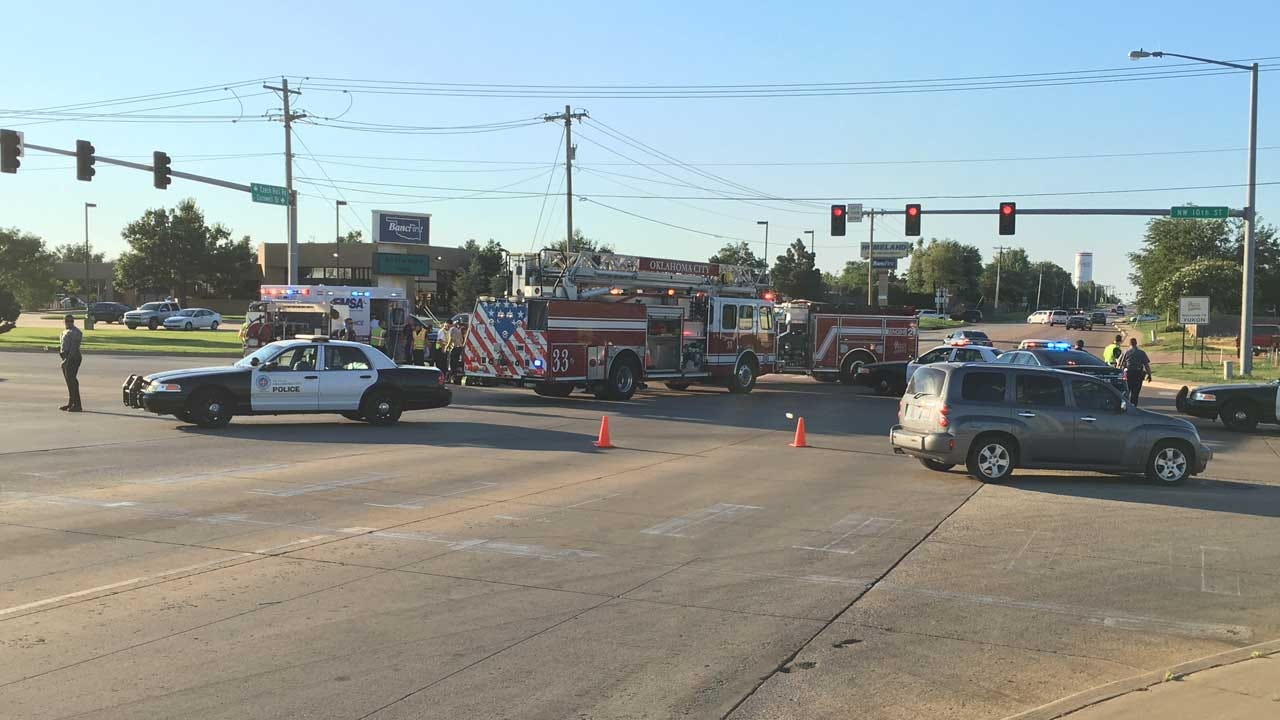 One Injured In NW OKC Auto-Ped Crash