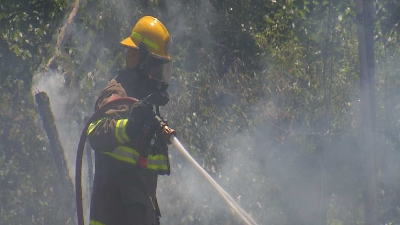 Fire Crews Try To Avoid Heat Exhaustion While Battling Fires