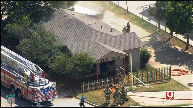 Crews Battle Fire At NW OKC Restaurant