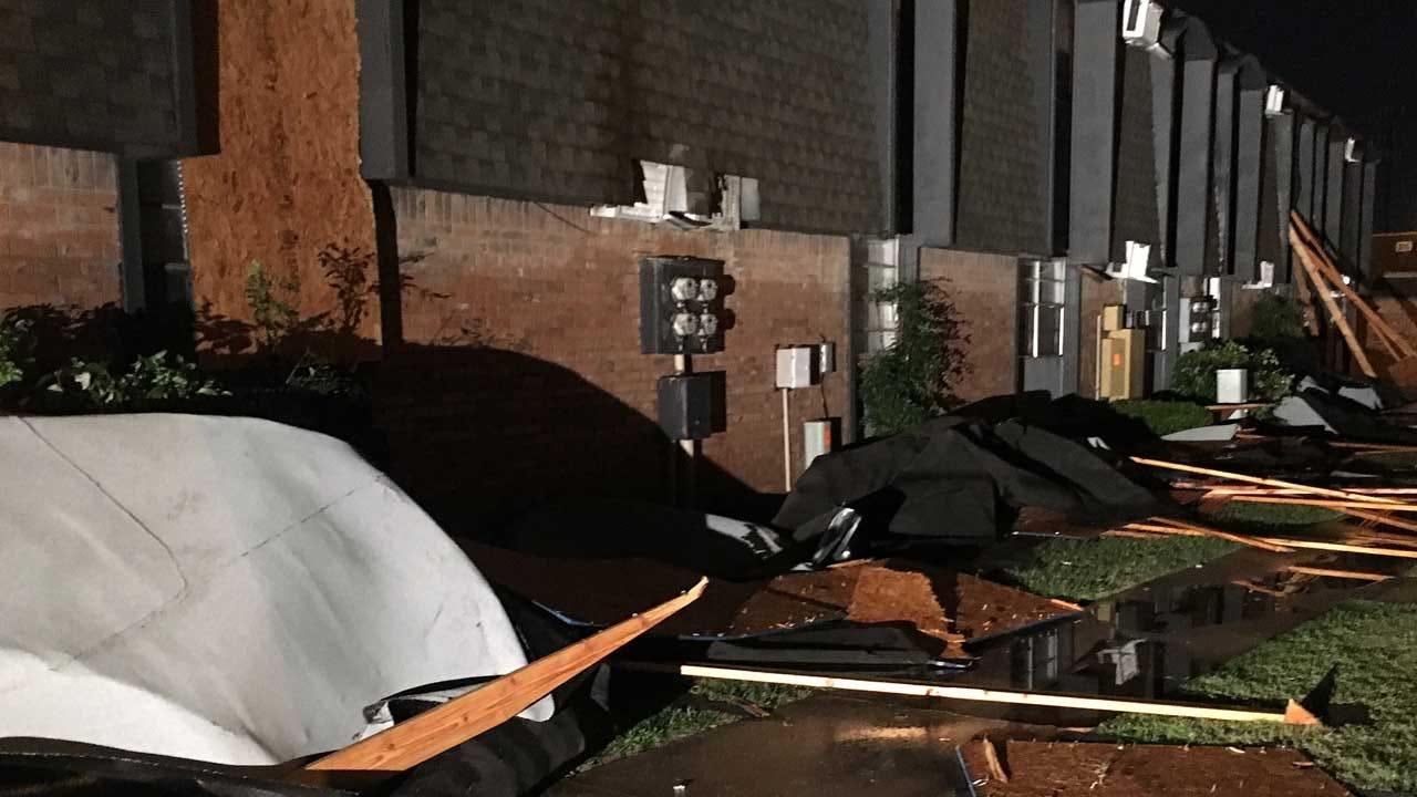 More Than A Dozen Displaced After Storms Damage OKC Apartment Complex