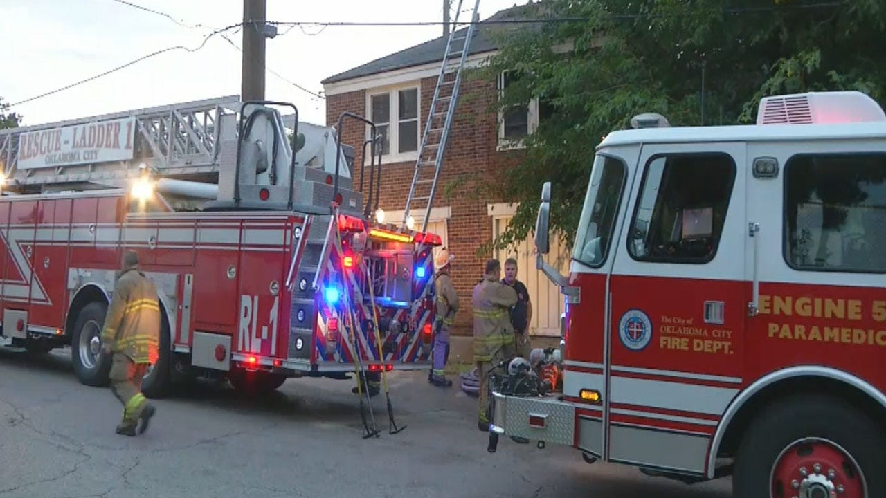 Firefighters Put Out Structure Fire In Central OKC
