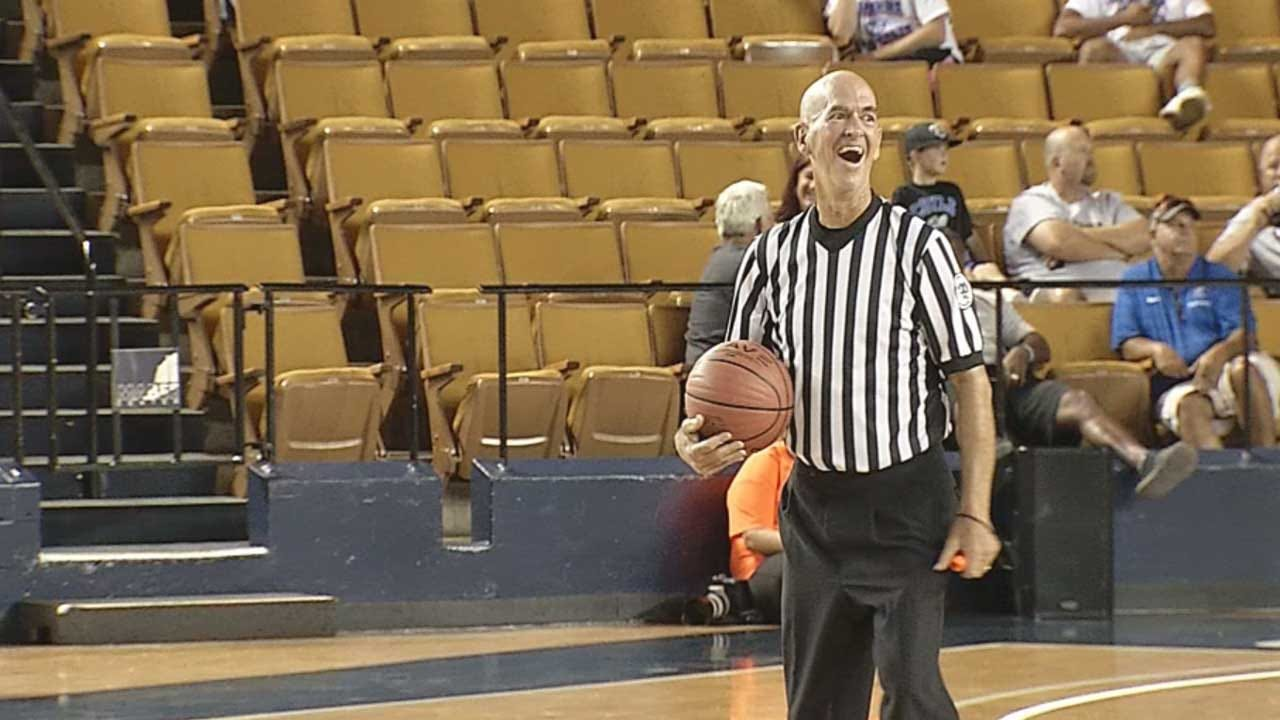 Chickasha Referee With ALS Honored At Last Game