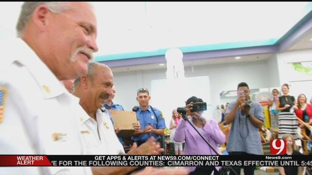 Patients From Children's Center Honor Firefighters
