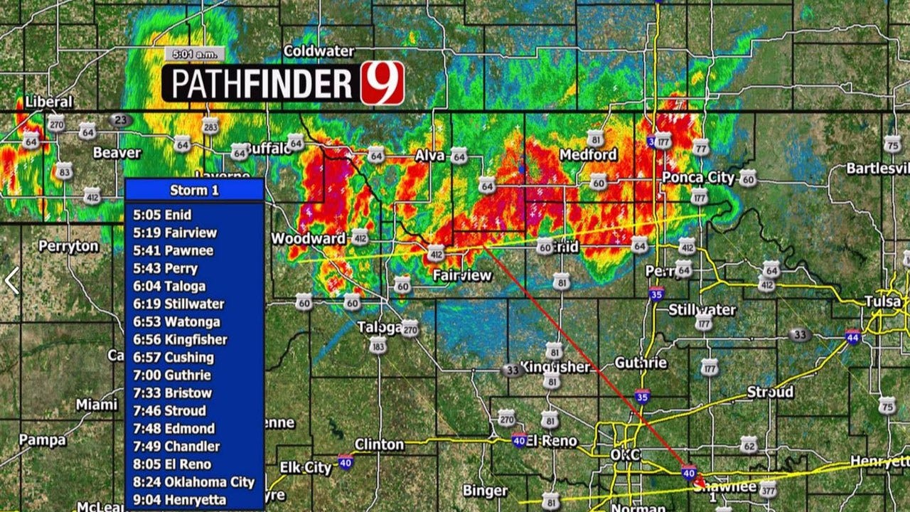 Severe Storms In North Oklahoma Moving South Towards The Metro