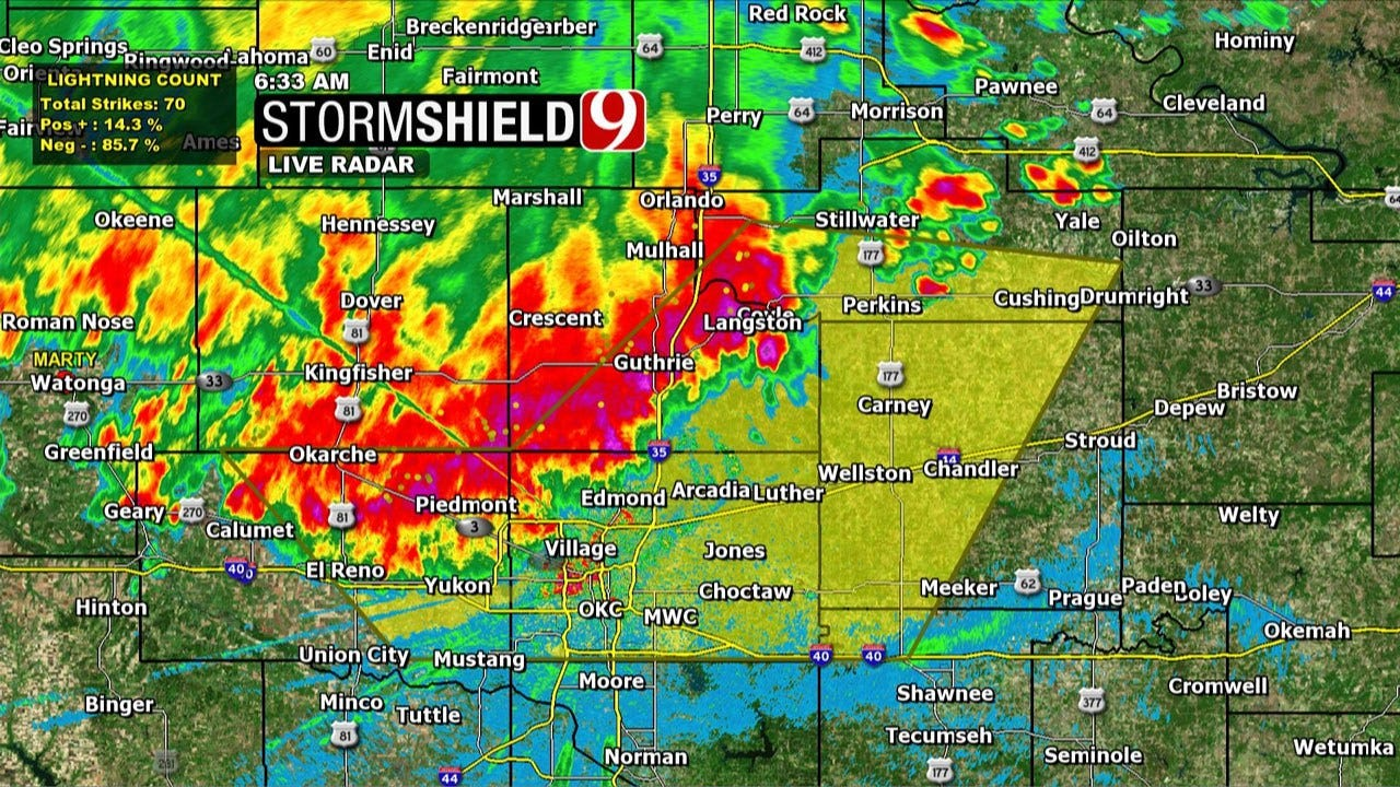 Severe Thunderstorm Warning Expires In Central Oklahoma