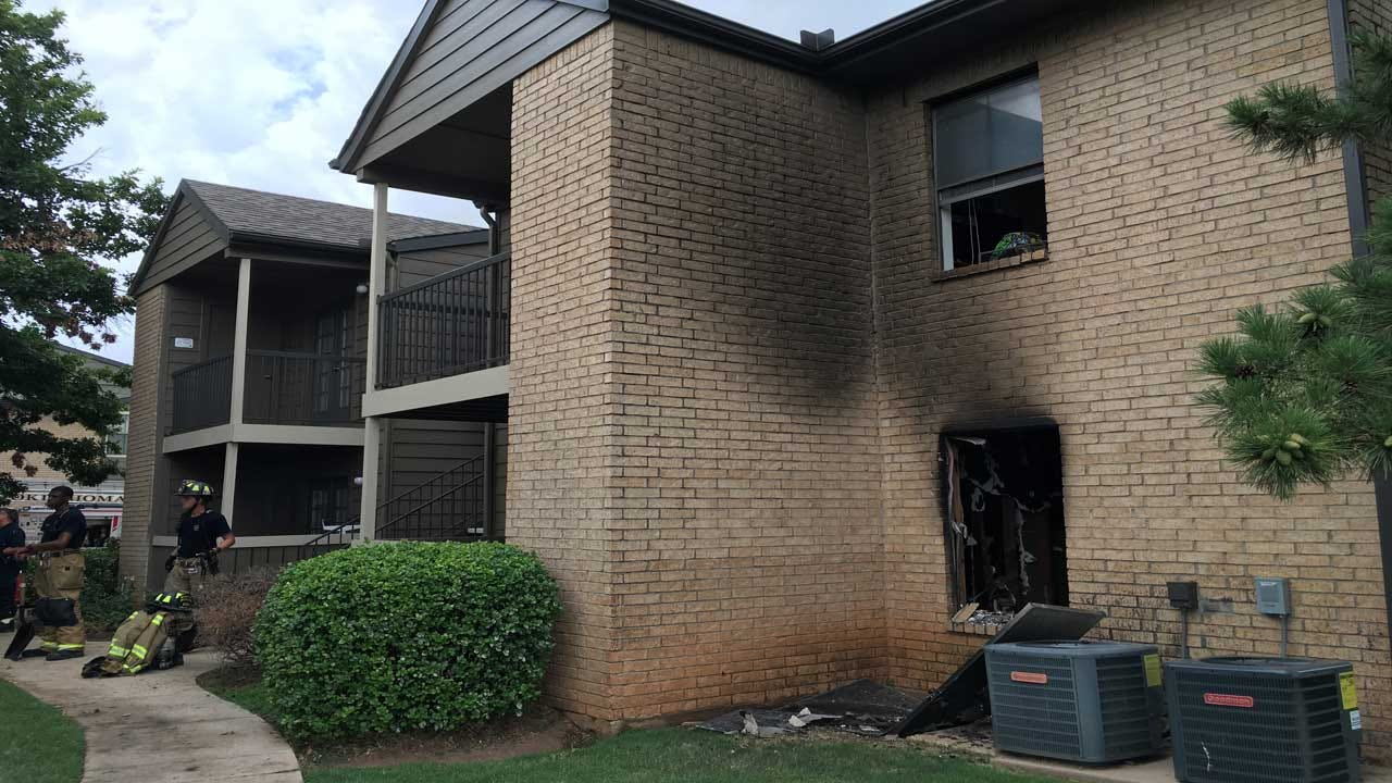 OKCFD Evacuates Apartment Building After Fire Breaks Out