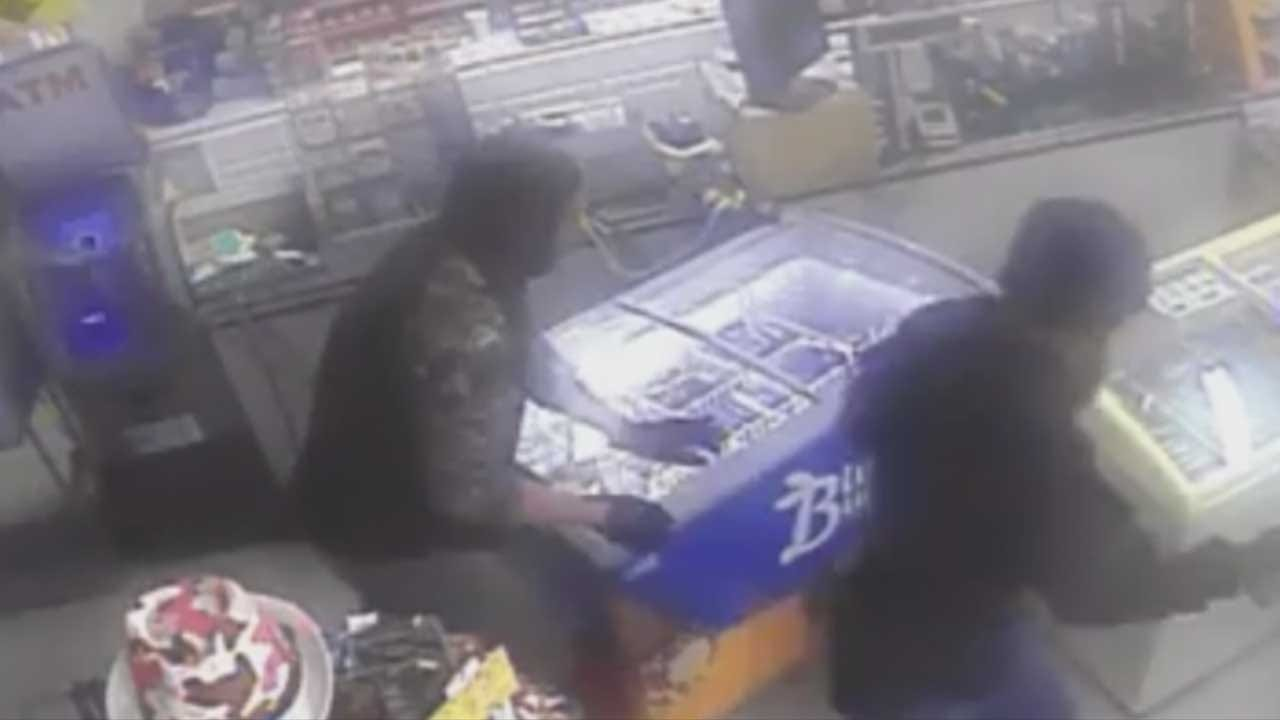 Caught On Camera: Two Suspects Steal ATM From Cleveland Co. Gas Station