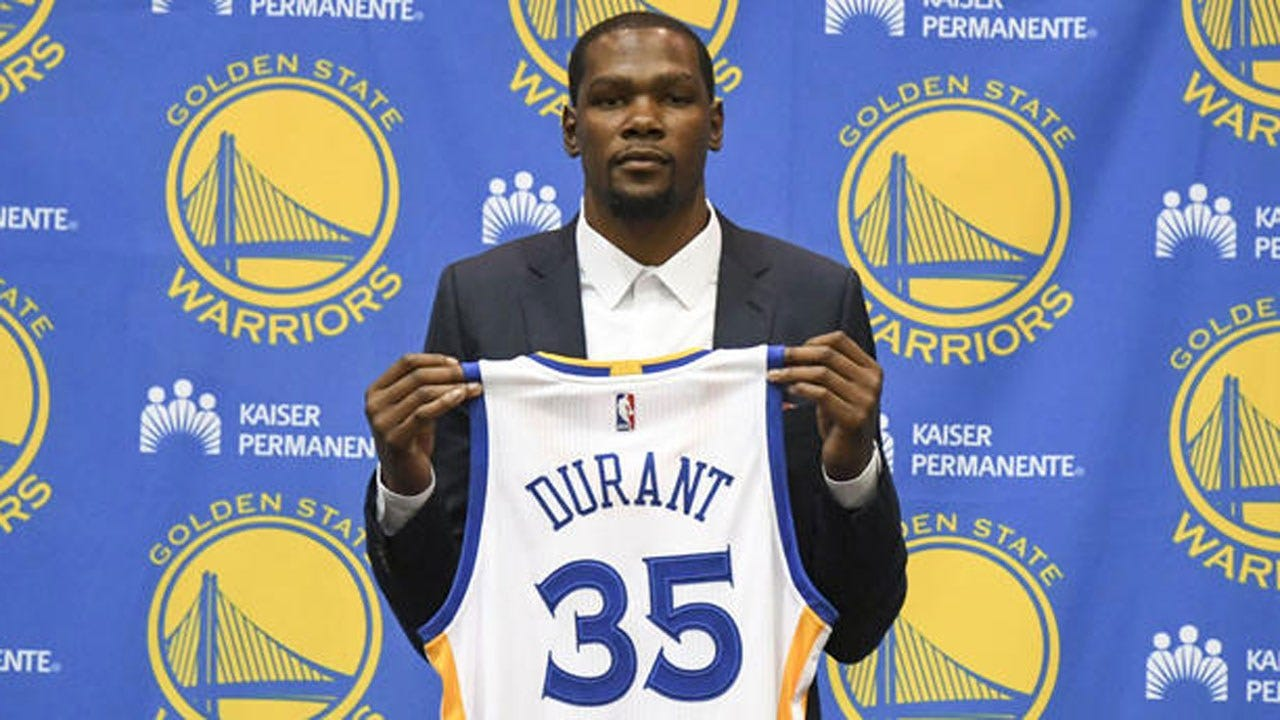 Kevin Durant Officially Signs With Warriors, Talks Publicly For First Time