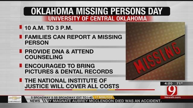 UCO To Host Oklahoma Missing Persons Day