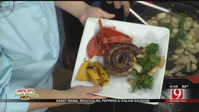 Broccolini, Peppers and Italian Sausage