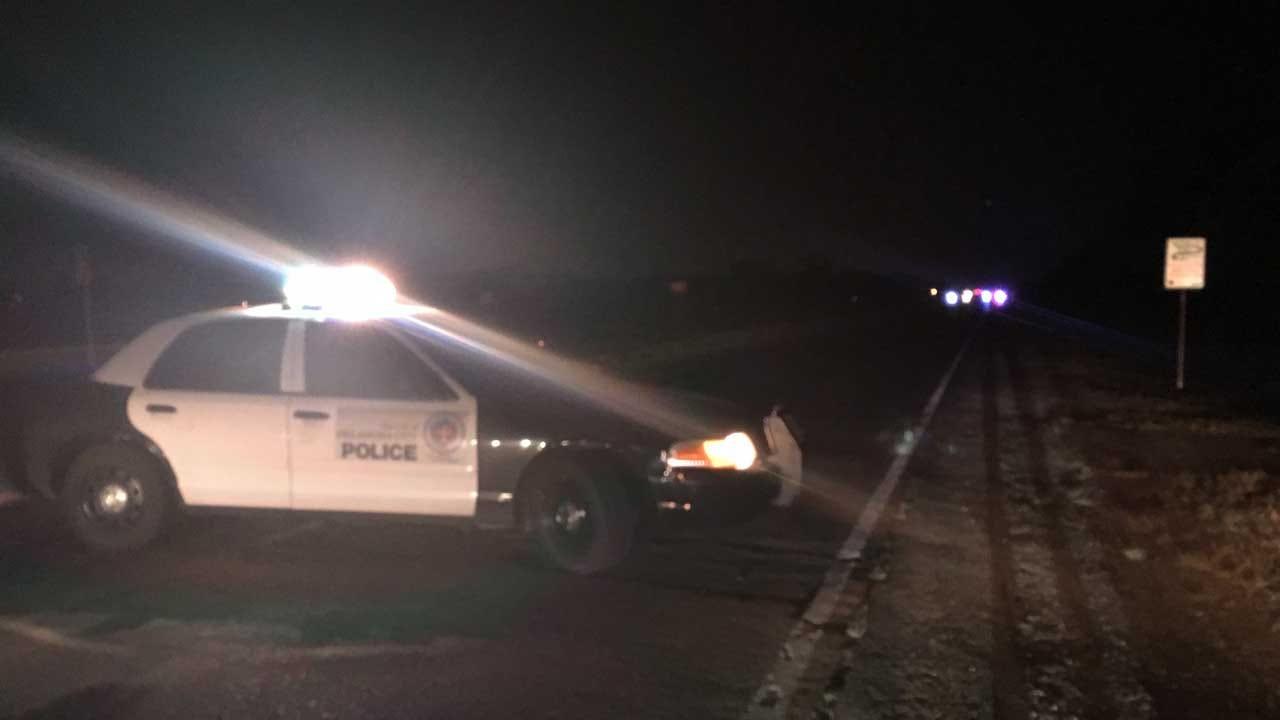 Police Investigate An Auto-Ped Crash