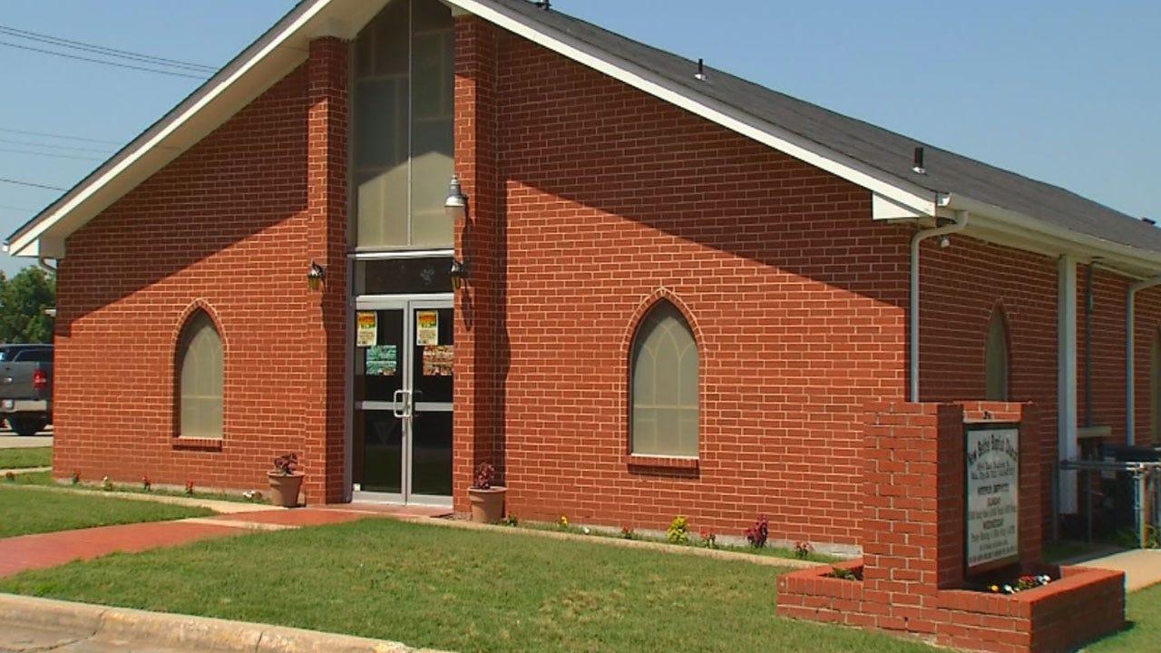 Pastor, Member Respond After Vandal Paints Racial Slur On OKC Church Building