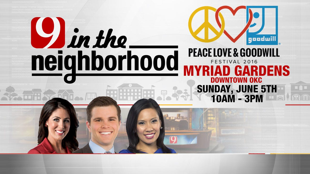 Come Meet The News 9 Team At The Peace Love And Goodwill Festival