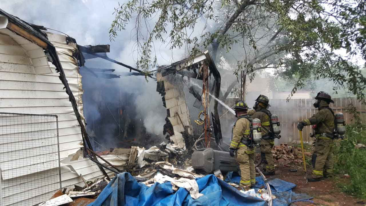 Crews Battle Fire At Single-Family Home In NW OKC