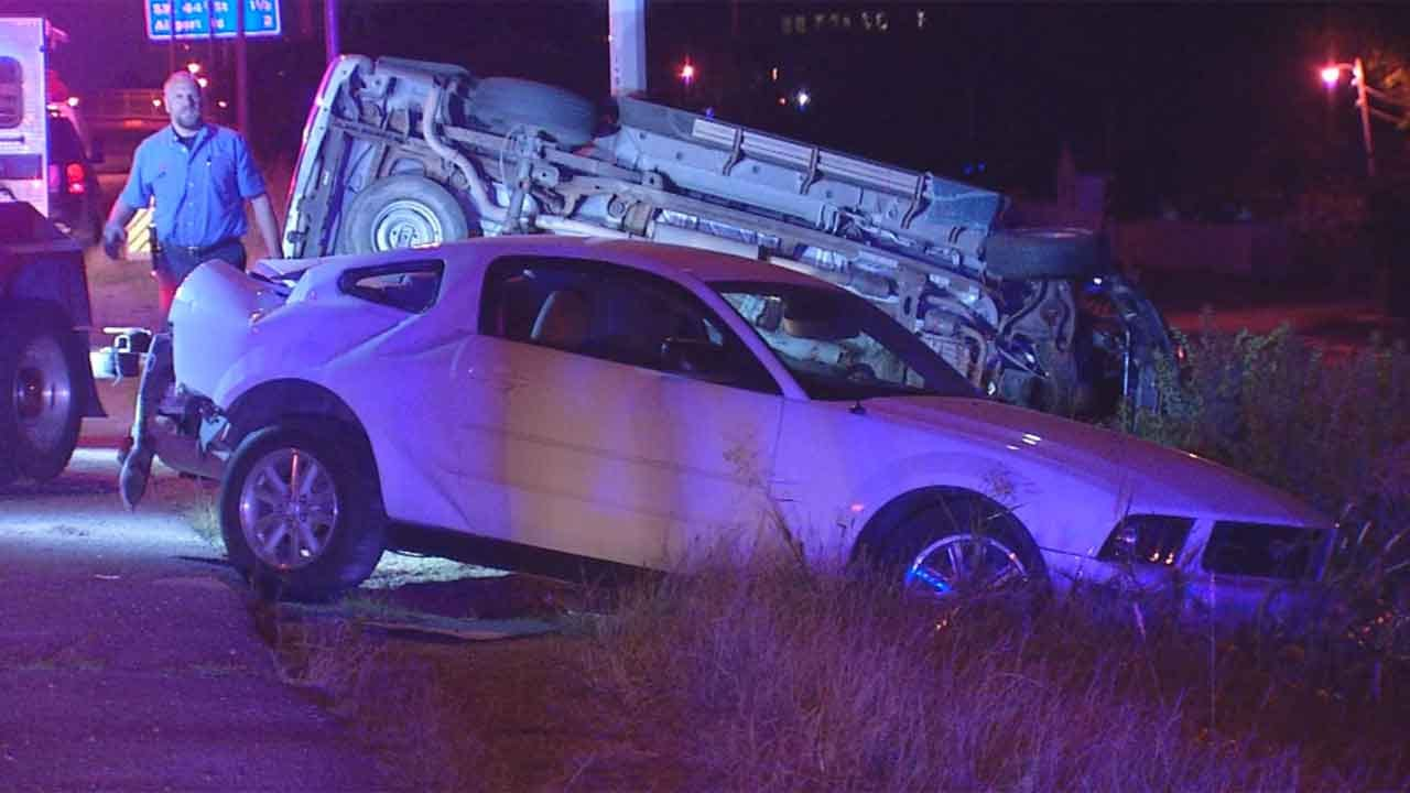 Vehicle In Reverse Causes Crash On I-44 In SW OKC