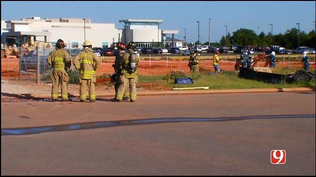 Construction Crews Accidentally Cut Gas Line In NE OKC