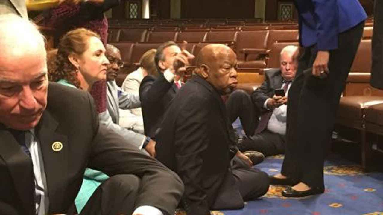 Democrats Stage Sit-In On House Floor Over Gun Control