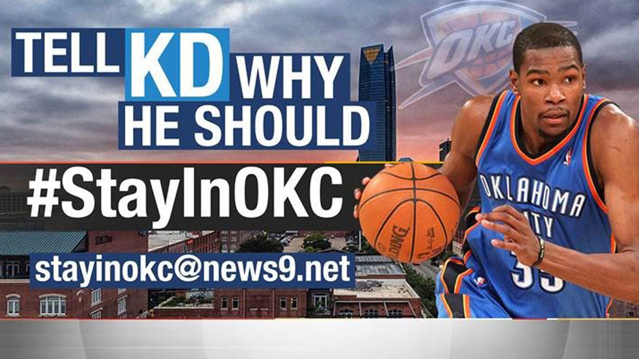 Fans Tell KD to #StayInOKC