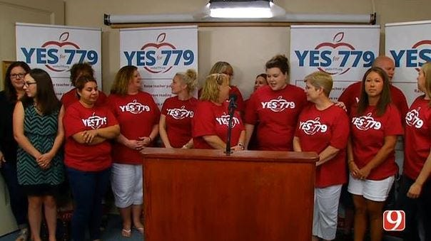 State Question 779 Supporters Gather At Capitol