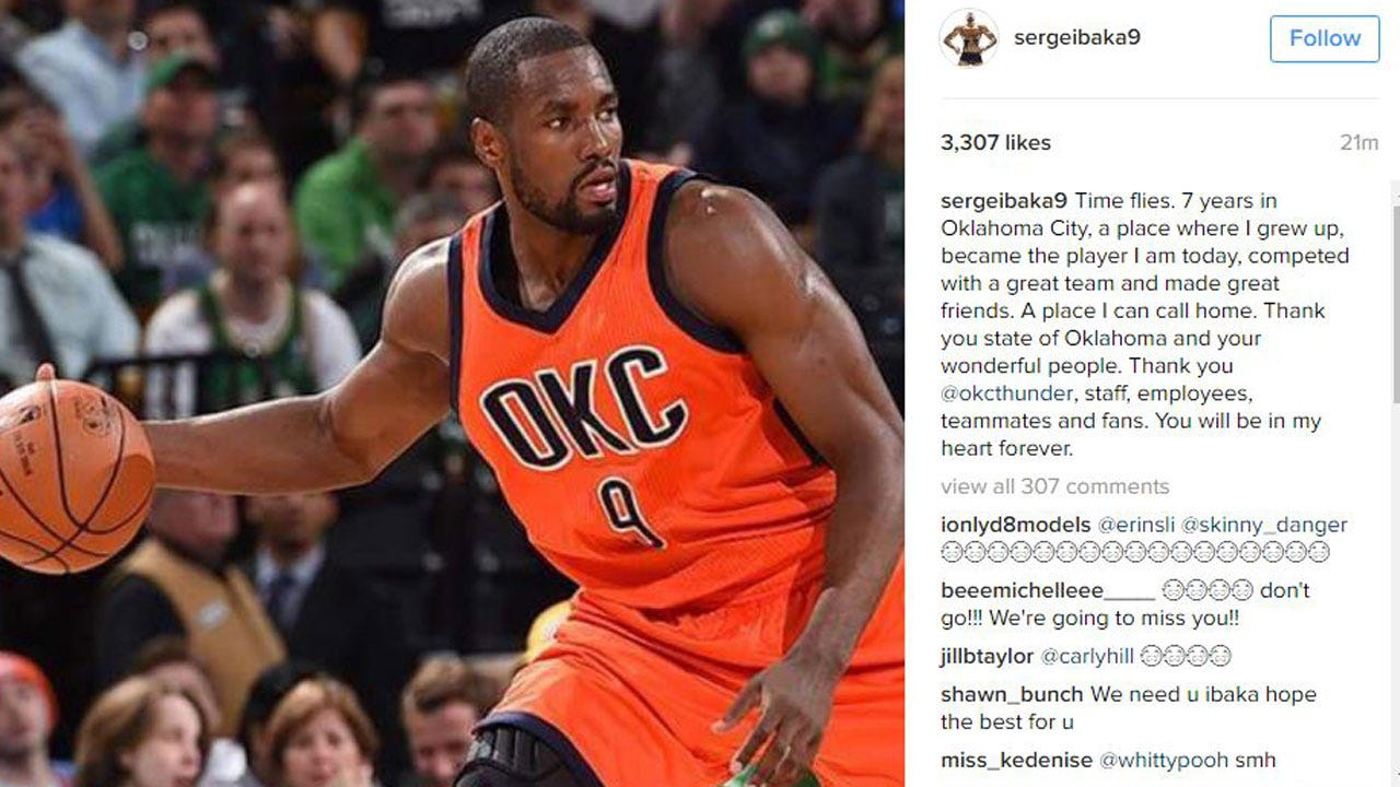 Thunder: Ibaka Posts Classy Farewell Note, Oladipo Expresses Excitement