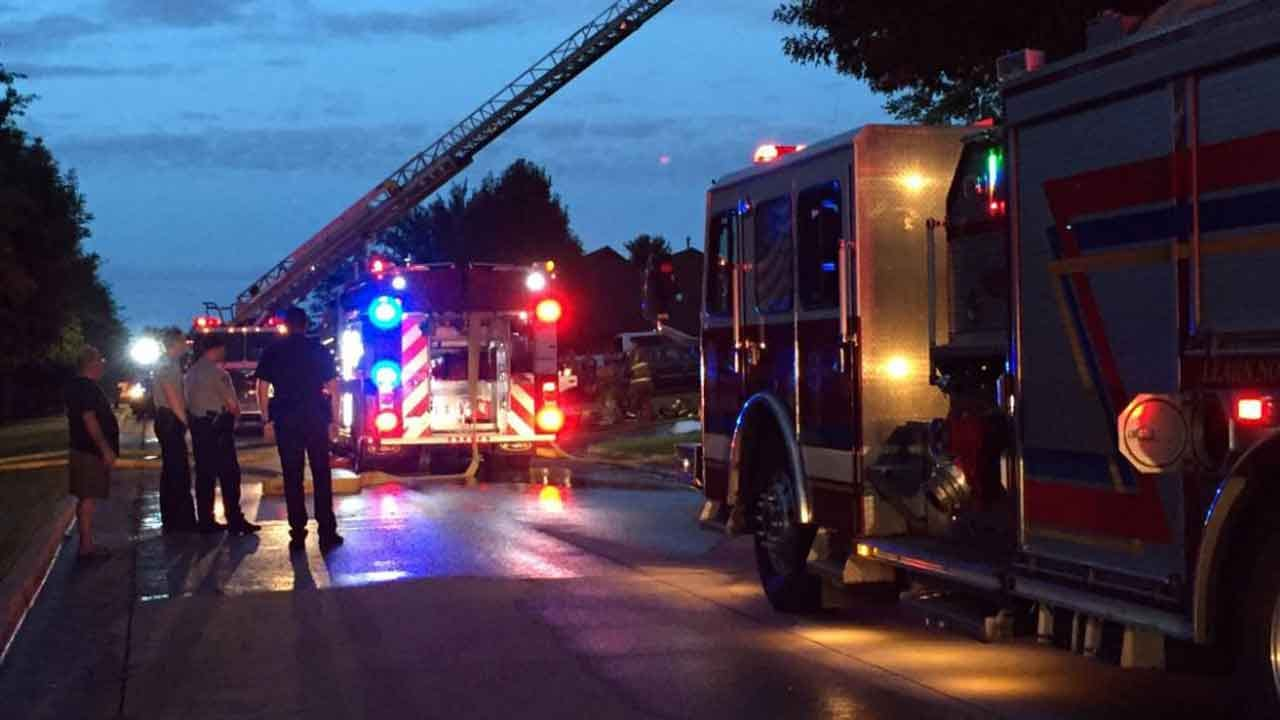 Crews Battle House Fire In MWC